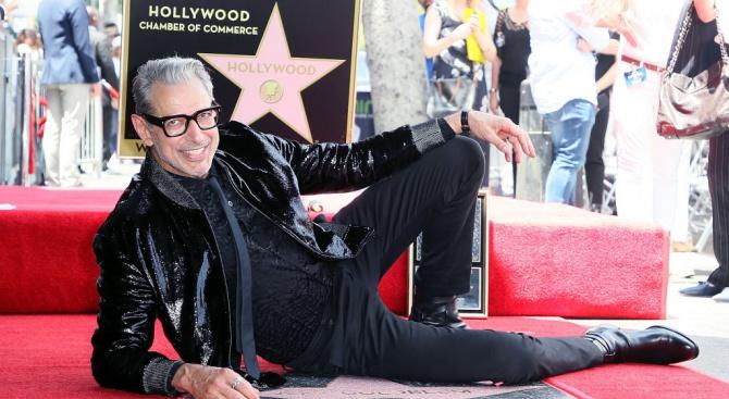 Джеф Голдблум получи звезда на холивудската Алея на славата (снимки)