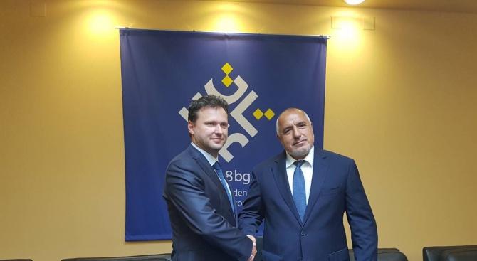 Бойко Борисов се срещна с председателя на Камарата на депутатите на Чехия Радек Вондрачек