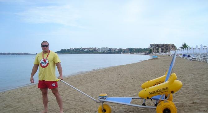 Сянката на Южния плаж в Слънчев бряг - безплатна за хора с увреждания