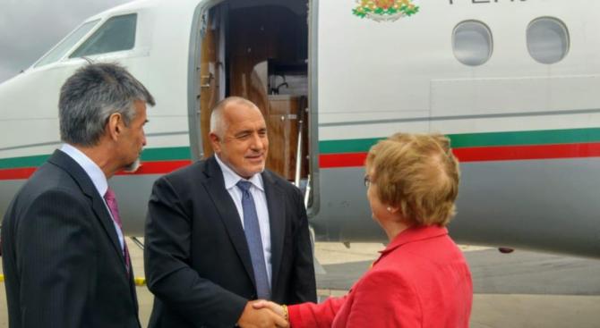 Борисов пристигна в Лондон