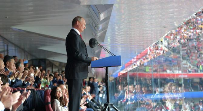 Путин: Световното по футбол помогна за разрушаване на митовете за Русия