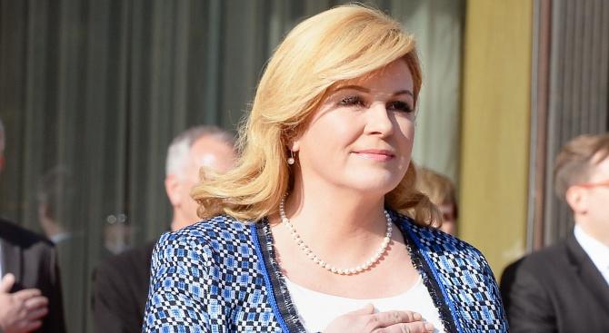 Хърватският президент Колинда Грабар-Китарович: Албанците са наши братя по оръжие