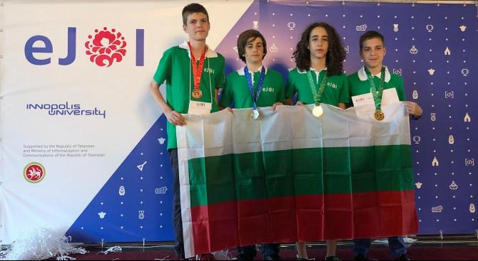 Два златни, сребърен и бронзов медал за България от втората Европейска младежка олимпиада по информатика