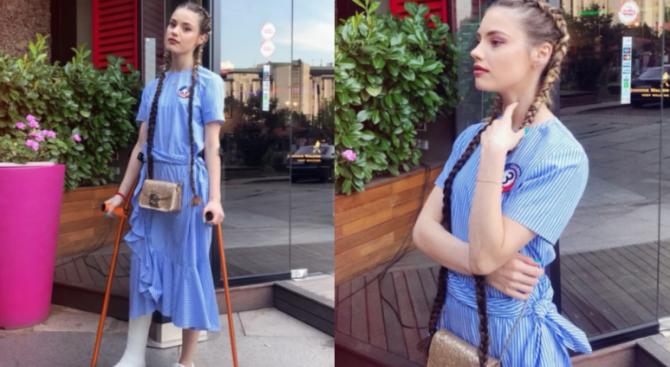 Кристин Илиева отпразнува 21 с гипс (снимки)