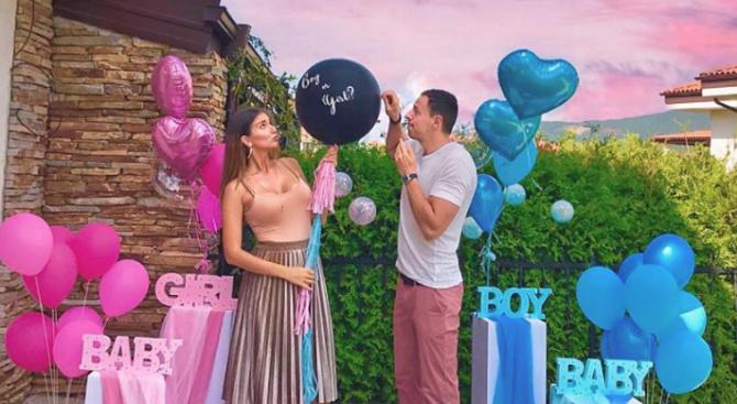 Александра Богданска и Даниел Петканов разкриха пола на бебето, което очакват (видео)