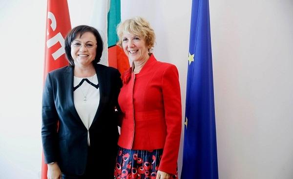 Корнелия Нинова се срещна с посланика на Кралство Нидерландия Беа тен Тъшър