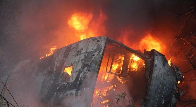 Автобус с деца от Украйна пламна на пътя Обзор – Слънчев бряг