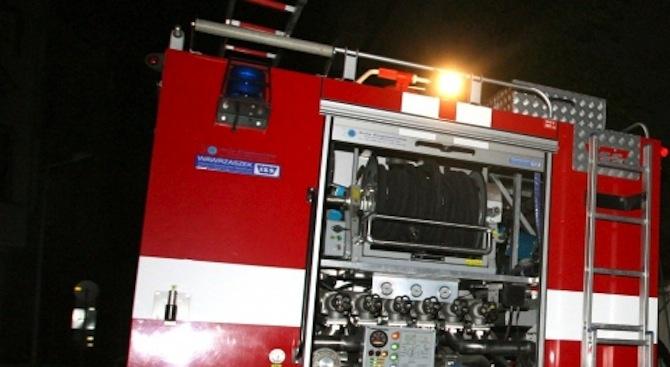 Противопожарен автомобил от Разлог е катастрофирал, няма пострадали служители