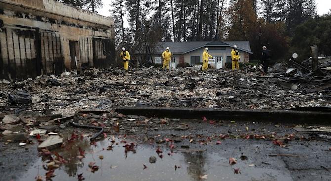 След смъртоносните пожари Калифорния има риск от наводнения