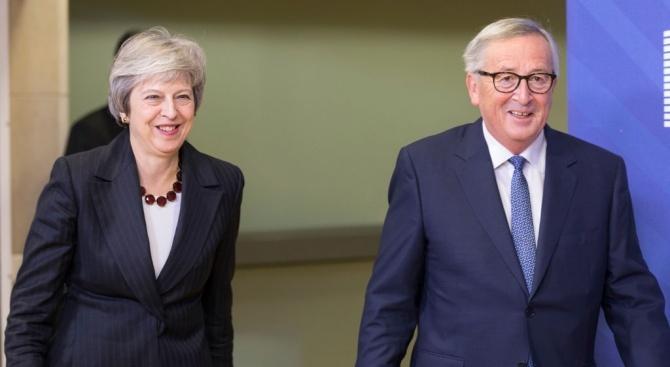 Тереза Мей бе приета от председателя на Европейската комисия Жан-Клод Юнкер