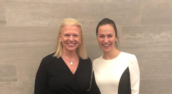 Ева Майдел се срещна с главния изпълнителен директор на IBM Джини Ромети