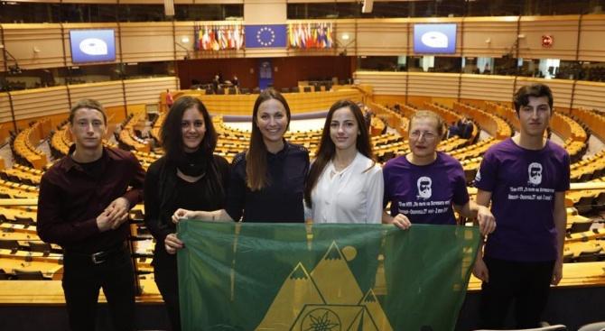 Група от великотърновска област посети ЕП в Брюксел по покана на Ева Майдел