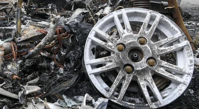 Пожар унищожи 400 гуми втора употреба