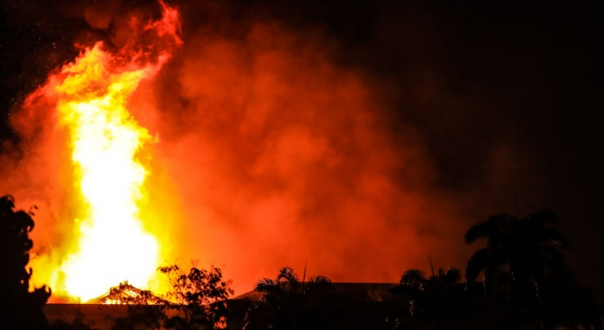 Пожар избухна в сръбска мисия в Ню Йорк (видео)