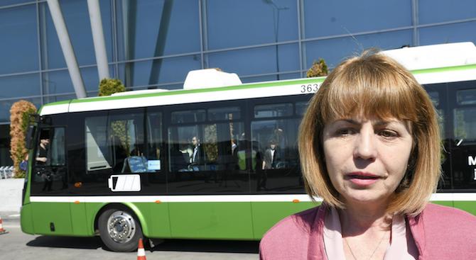 Фандъкова: 90% от автобусите на градския транспорт ще бъдат обновени догодина
