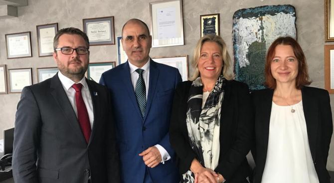 Цветан Цветанов се срещна с генералния секретар на германската обществена телевизия ARD Сузане Пфаб