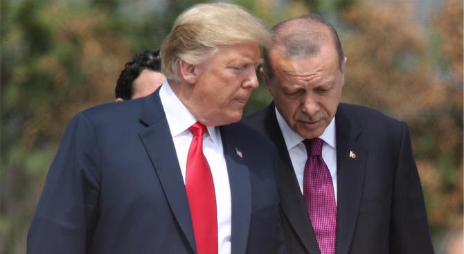 """Ердоган обещал на Тръмп да унищожи силите на """"Ислямска държава"""" в Сирия"""
