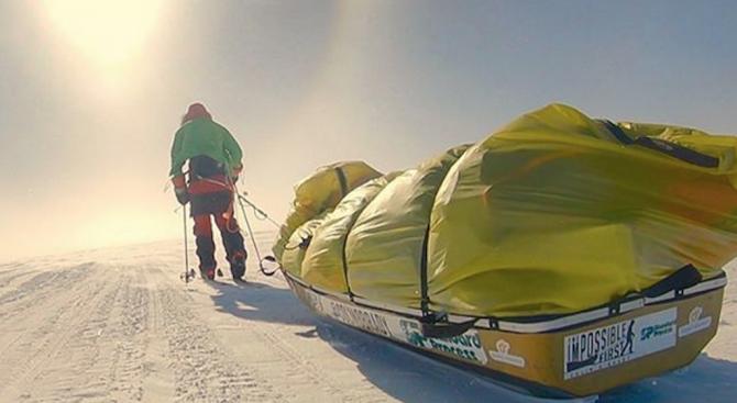 Американец сам прекоси Антарктида за 54 дни