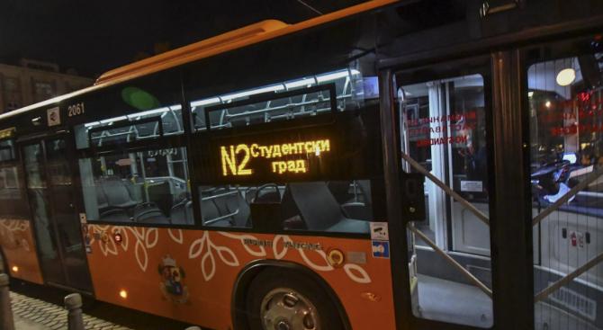 Вижте разписанието на градския транспорт в София през новогодишната нощ
