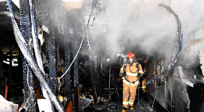 Пожар и в градската болница в Скопие