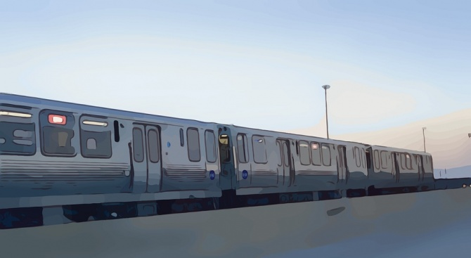 Палят влаковите релси в Чикаго, за да не замръзват (видео)
