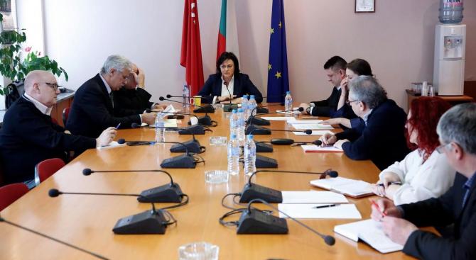 """Нинова обсъди с коалиционния съвет на """"БСП за България"""" предизборната платформа за евроизборите и подготовката за тях"""