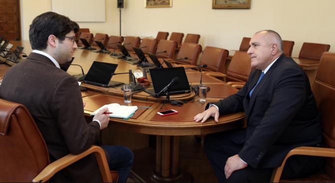 Борисов с интервю за The Guardian