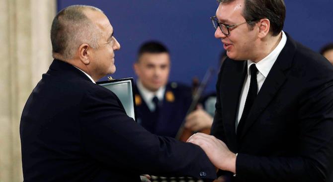 Премиерът Борисов бе удостоен с Ордена на Република Сърбия