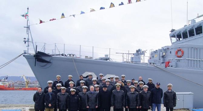 """Военните моряци отбелязаха 10-та годишнина от вдигането на военноморския флаг на минен ловец """"Цибър"""""""