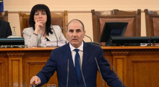 Цветанов: Нинова не даде възможност демократично мислещите депутати от БСП да участват в дебата