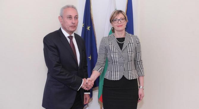 Министър Захариева прие за първи път у нас генералния секретар на Съюза за Средиземноморието