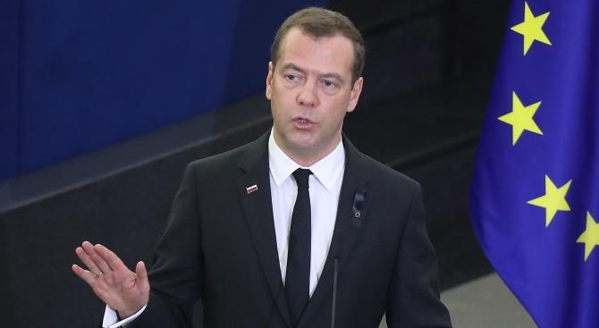 С руския премиер Дмитрий Медведев пристигат и ключови министри у нас