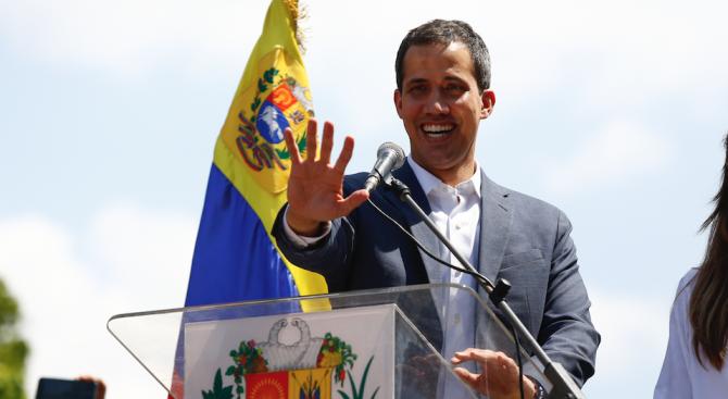 Гуайдо се върна във Венецуела