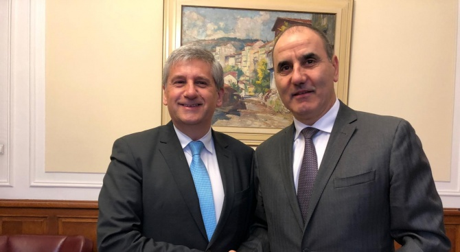 Цветанов се срещна с генералния директор на Международния център за развитие на миграционни политики Михаел Шпинделегер