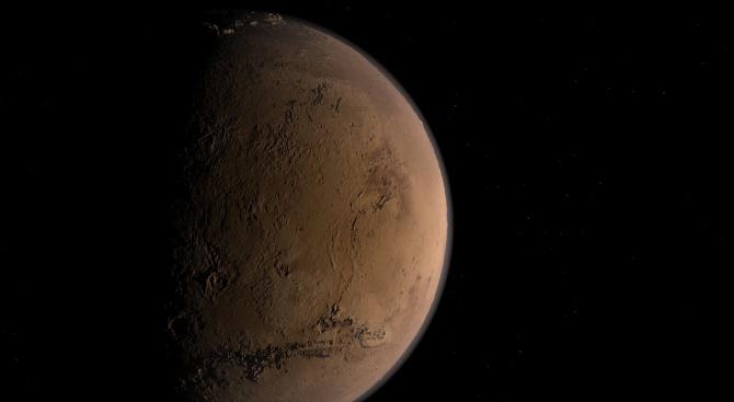 На Марс беше заснета отломка, приличаща на част от извънземен кораб
