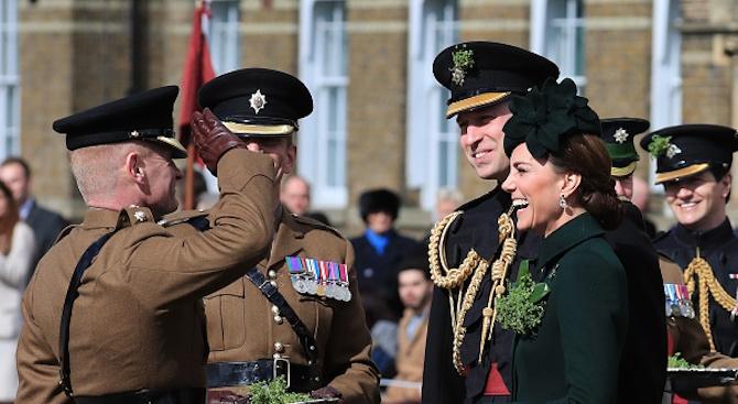 Принц Уилям и херцогинята на Кембридж Катрин отбелязаха Деня на Свети Патрик