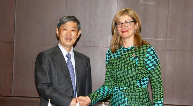 Екатерина Захариева в Токио: България и Япония задълбочават сътрудничеството си в редица области