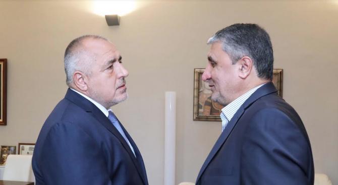 Борисов: България и Иран си сътрудничат във всички видове транспорт