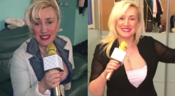 Сашка Васева пее на златен микрофон