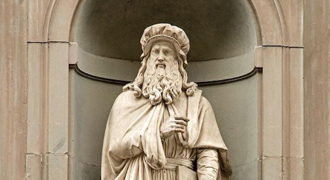 Леонардо да Винчи е спрял да рисува заради парализа на ръката