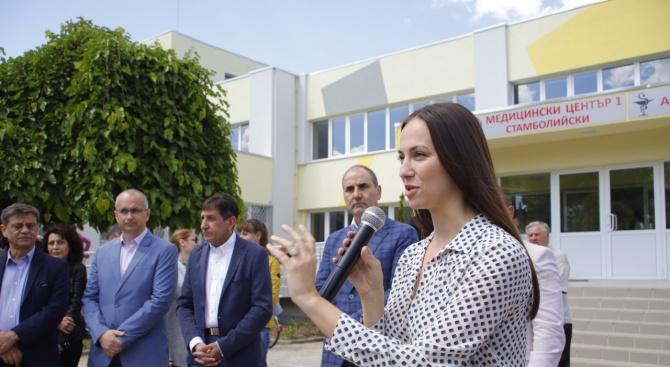 Ева Майдел в Стамболийски: С парите от Европа подобряваме качеството на живота в по-малките общини