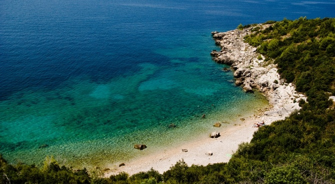 Плажът Пасяча край Дубровник - най-красивият плаж в Европа