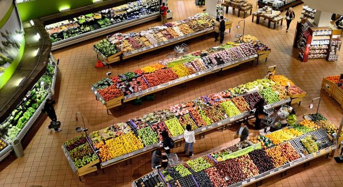 Индексът на тържищните цени, който отразява цените на хранителните стоки, падна тази седмица с 1,72%