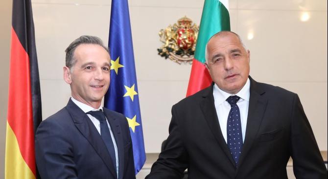 Бойко Борисов се срещна с министъра на външните работи на Федерална Република Германия Хайко Маас