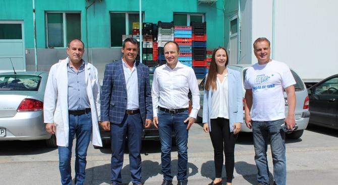 Андрей Ковачев и Ева Майдел се срещнаха с екипа на голямо предприятие в Пловдив