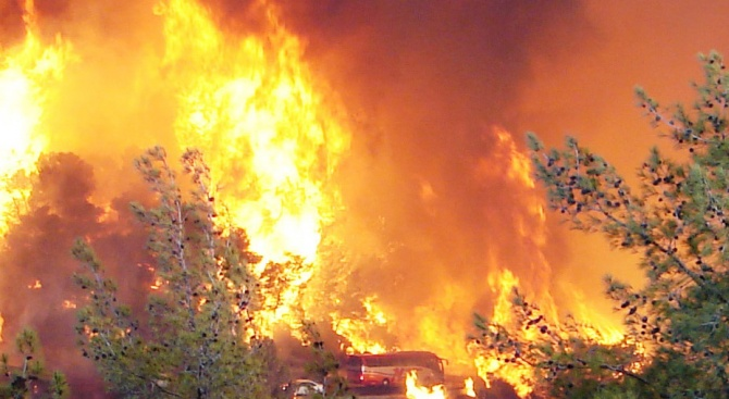 Огромни пожари обхванаха Израел