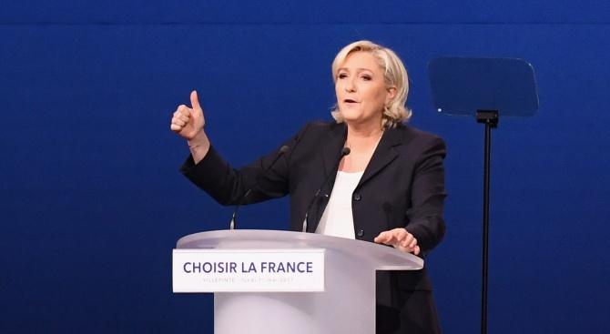 Партията на Марин льо Пен изпревари движението на Еманюел Макрон с 0,9% на евровота