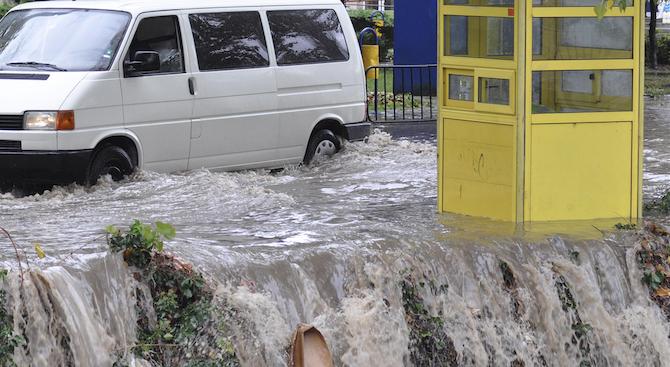 Най-много сигнали за наводнения са получени на територията на областите Велико Търново, Пазарджик и Пловдив