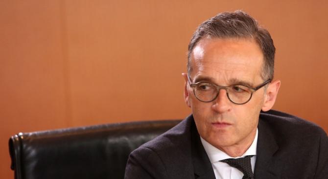 Германският външен министър подчерта подкрепата си за уреждането на палестинско-израелския конфликт с две държави
