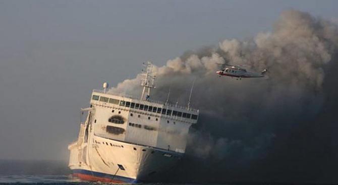 Нерегистриран пасажер подпали кораб, плаващ от Турция заИзраел